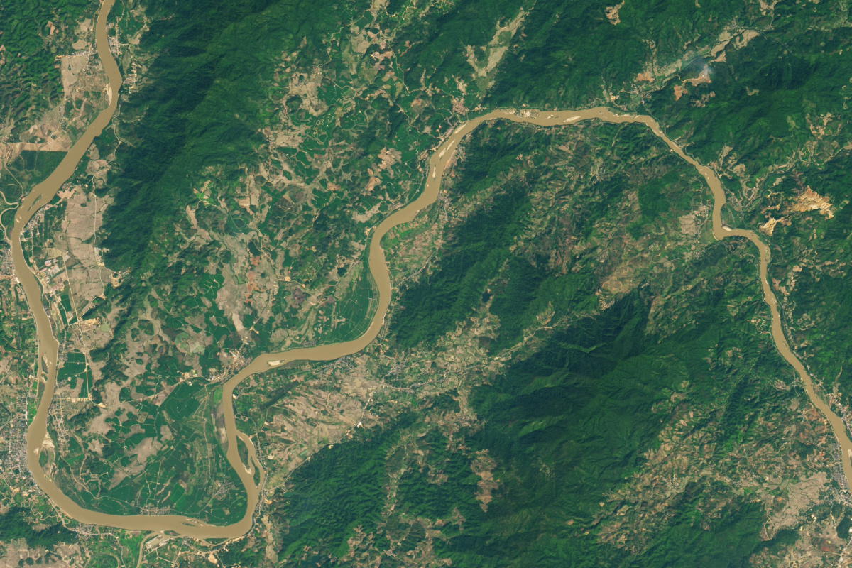 Mekong, 27 januari, 2015, NASA