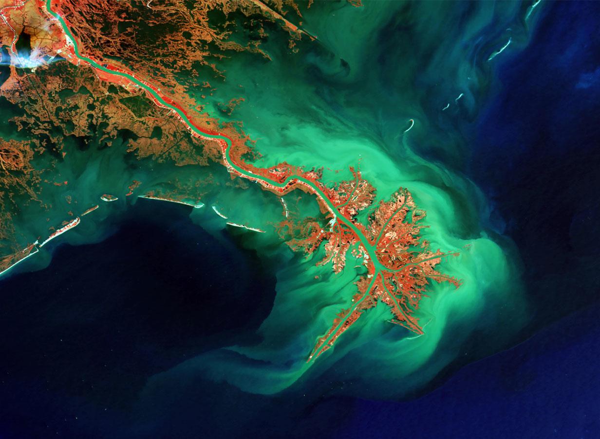 Le Mississippi, ESA/BELSPO/VITO
