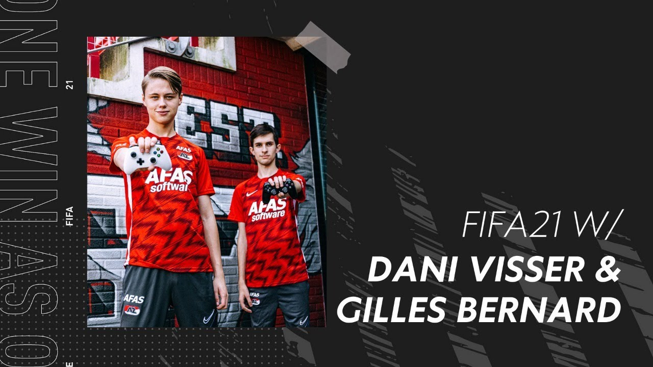 Gilles Bernard en zijn teamgenoot Dani Visser bij AZ., EA Sports