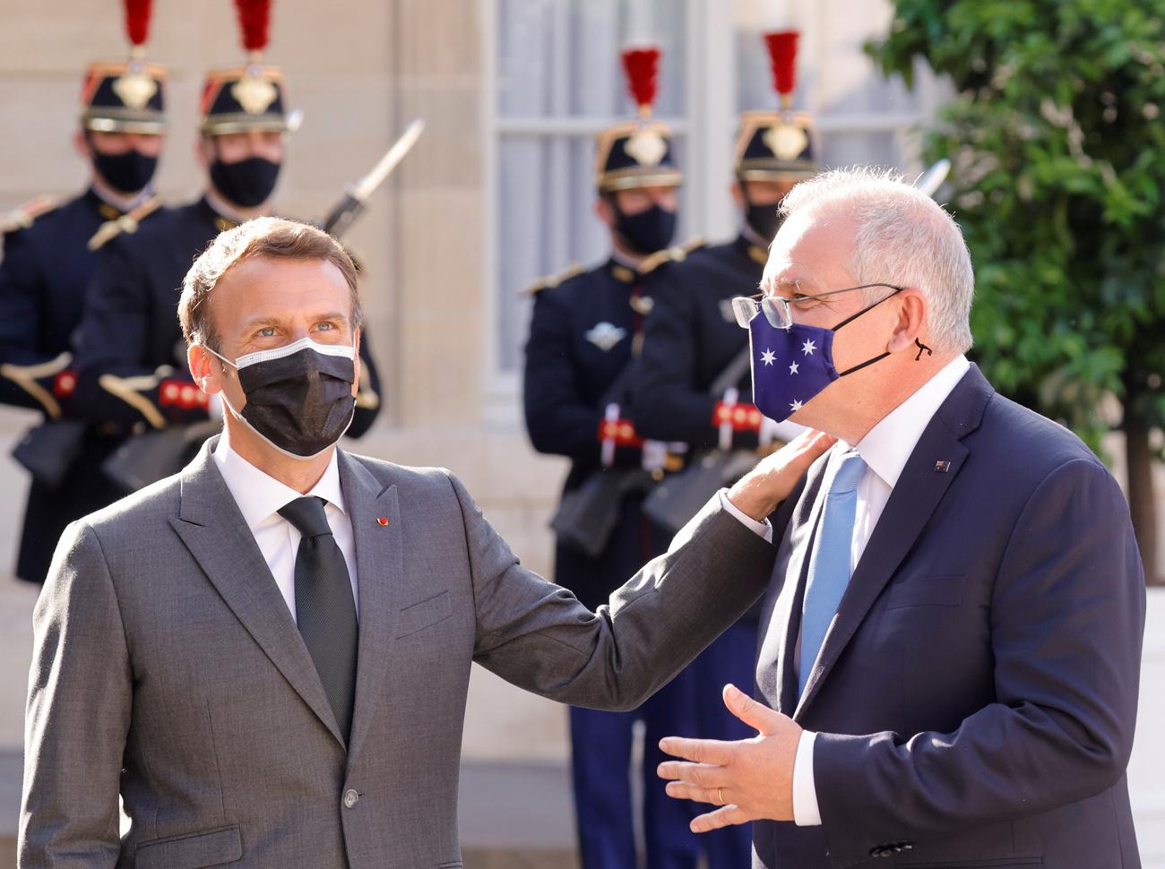 Macron reçoit Morrison le 15 juin 2021 à Paris, Reuters