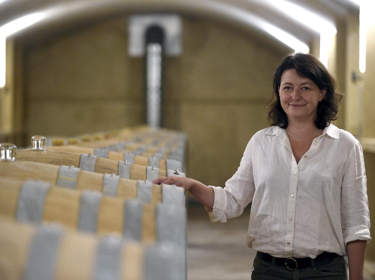 Marie-Geneviève Molozay, exploitante du domaine du Château de Vaux., AFP
