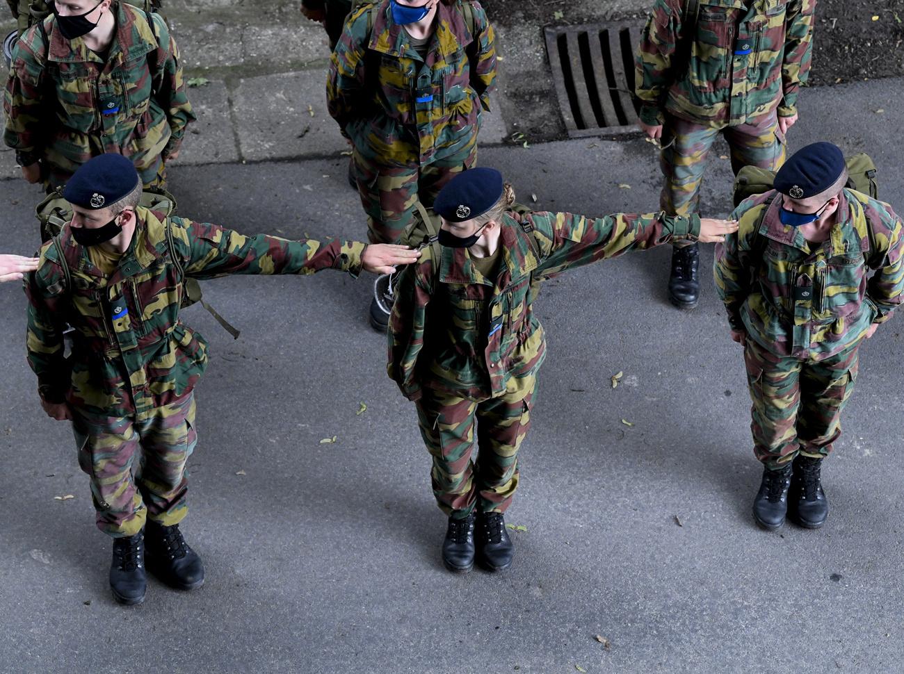 La princesse Elisabeth en stage commando à Marche-les-Dames, Belga Images
