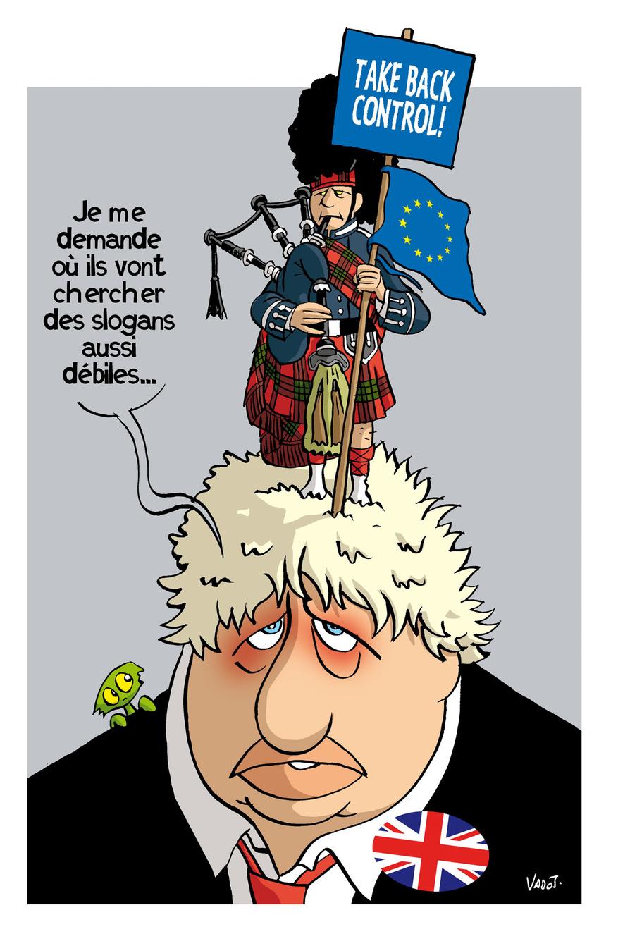 Fort de leur victoire aux élections locales, les indépendantistes écossais demandent la tenue d'un nouveau referendum, ce que refuse Boris Johnson., Vadot