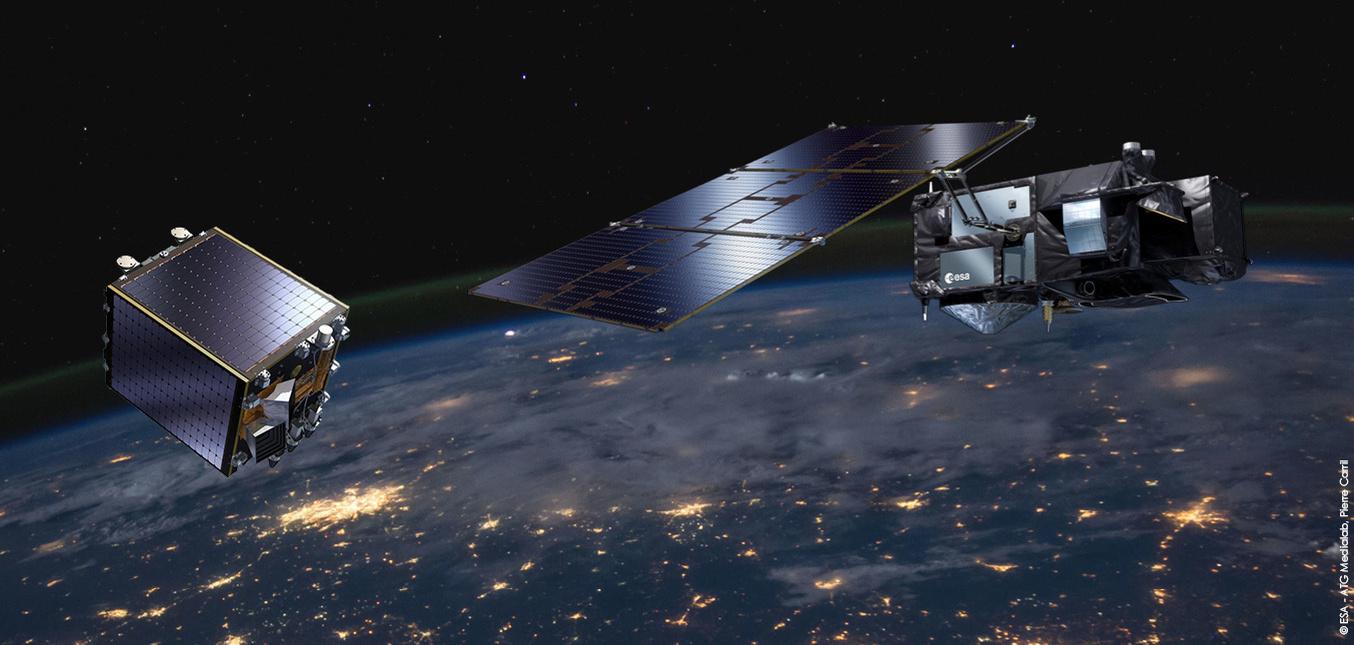 PROBA-V en Sentinel 3 (illustratie), ESA / P.Carril