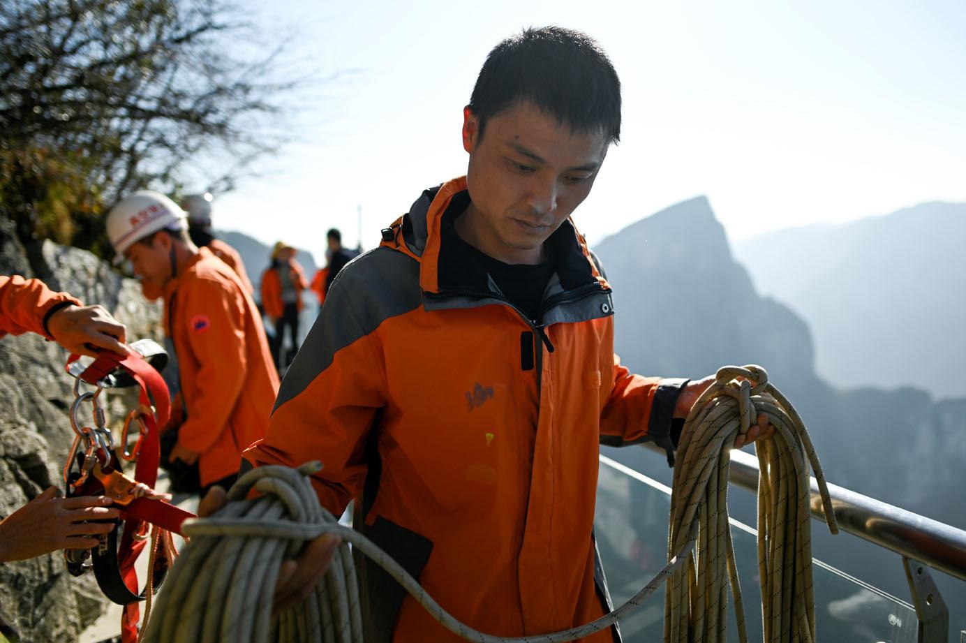 Eboueurs Spiderman en Chine, AFP