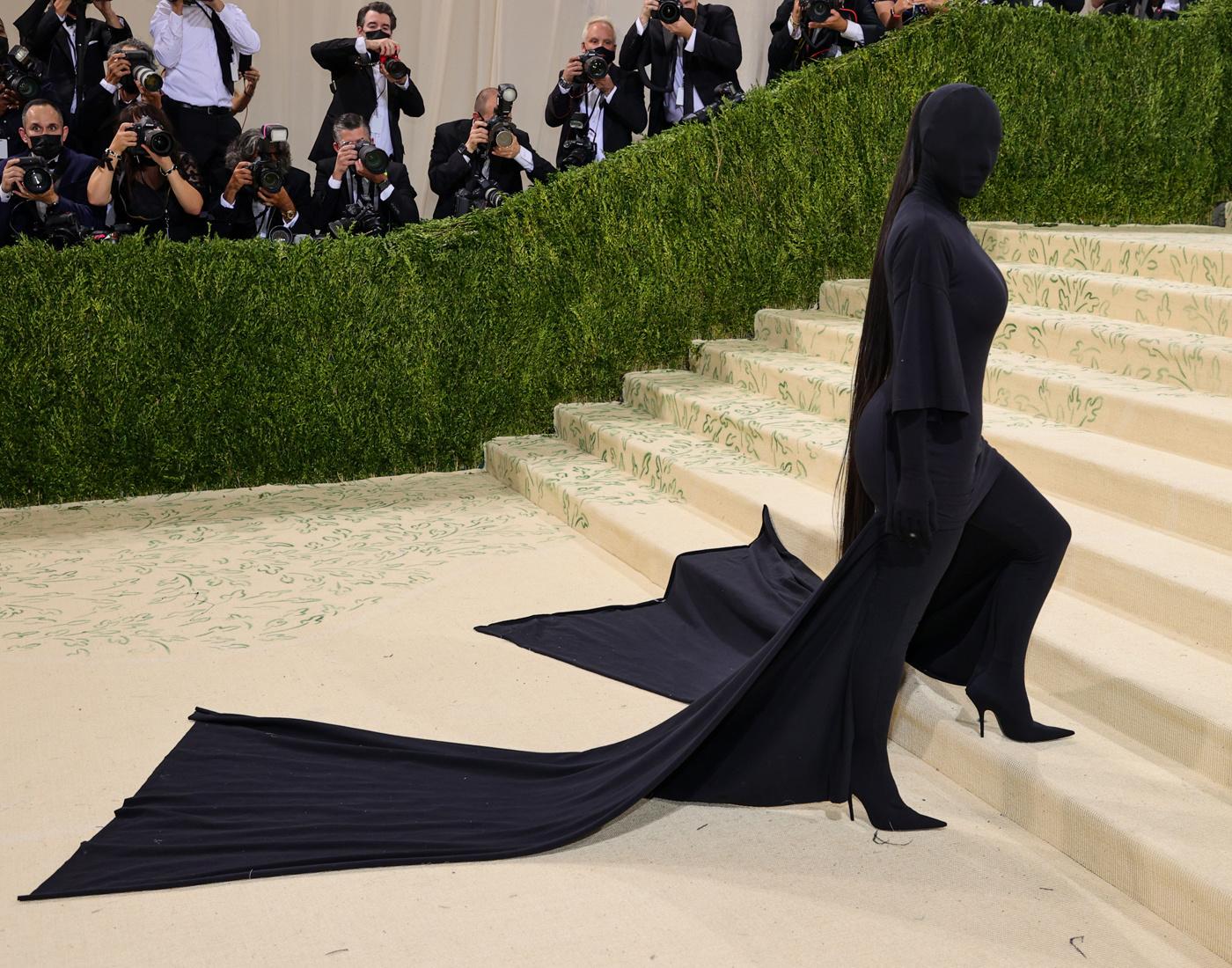 Kim Kardashian en Balenciaga au Met Gala, le 13 septembre 2021, Getty Images