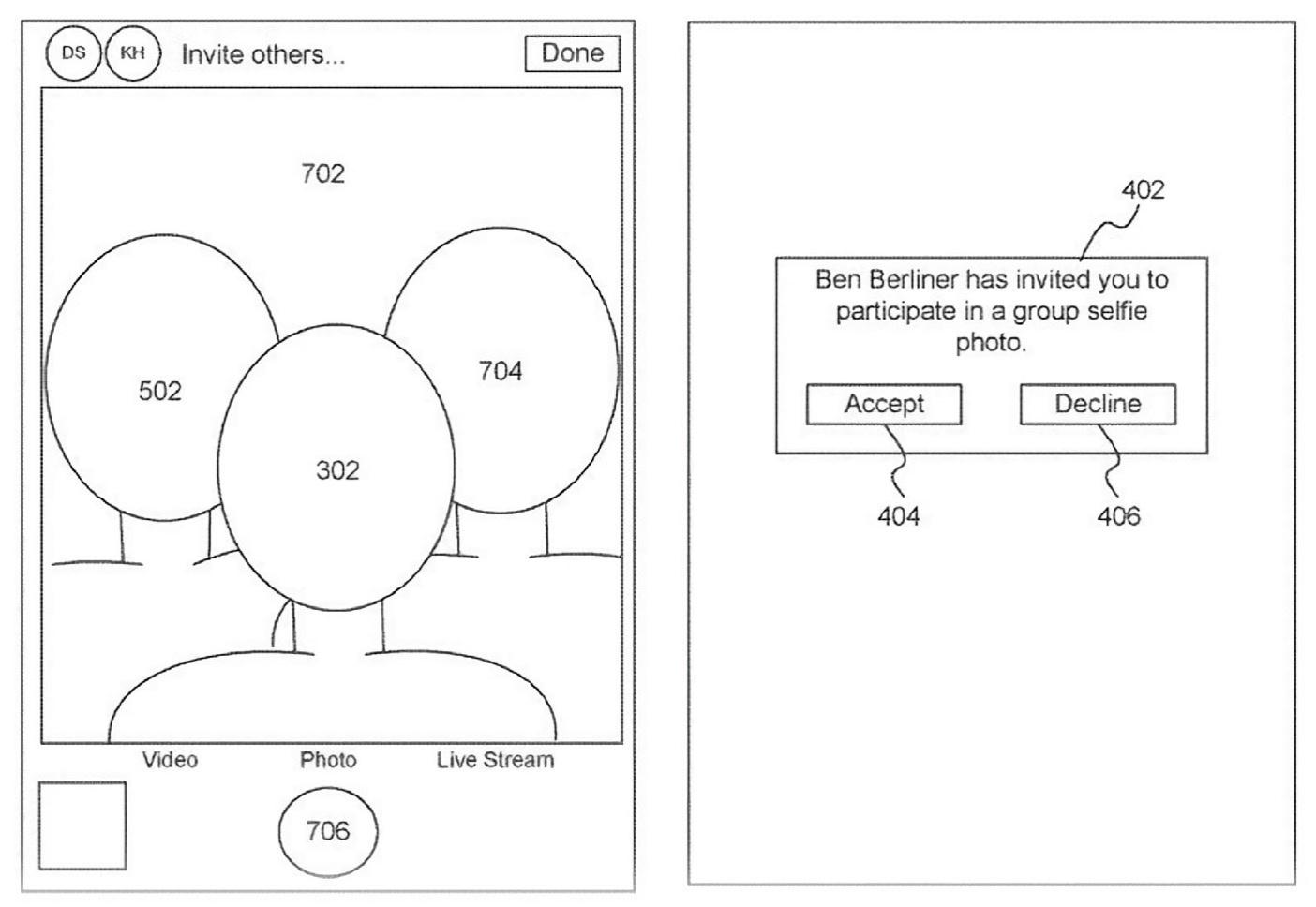 Enkele illustraties uit de patentaanvraag., Apple