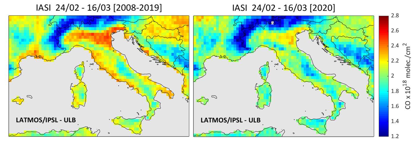 La qualité de l'air en Italie depuis le début des mesures anti coronavirus, Belga Images