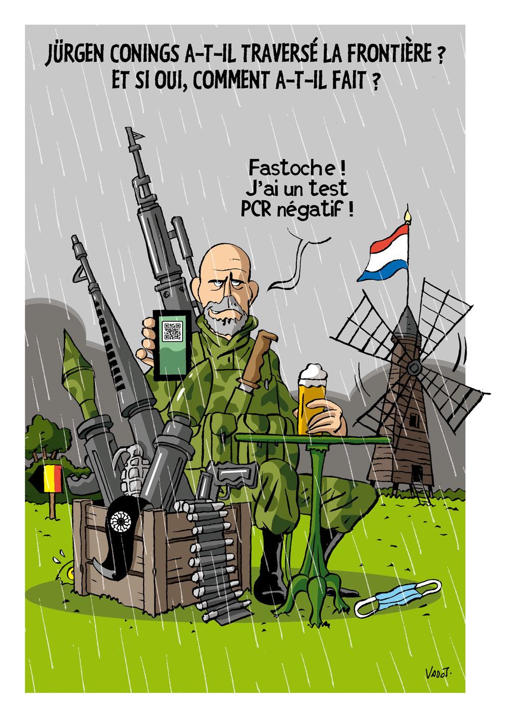 Le militaire d'extrême droite qui a menacé Marc Van Ranst et pris la fuite se déjoue des opérations de recherches de grande ampleur., Vadot