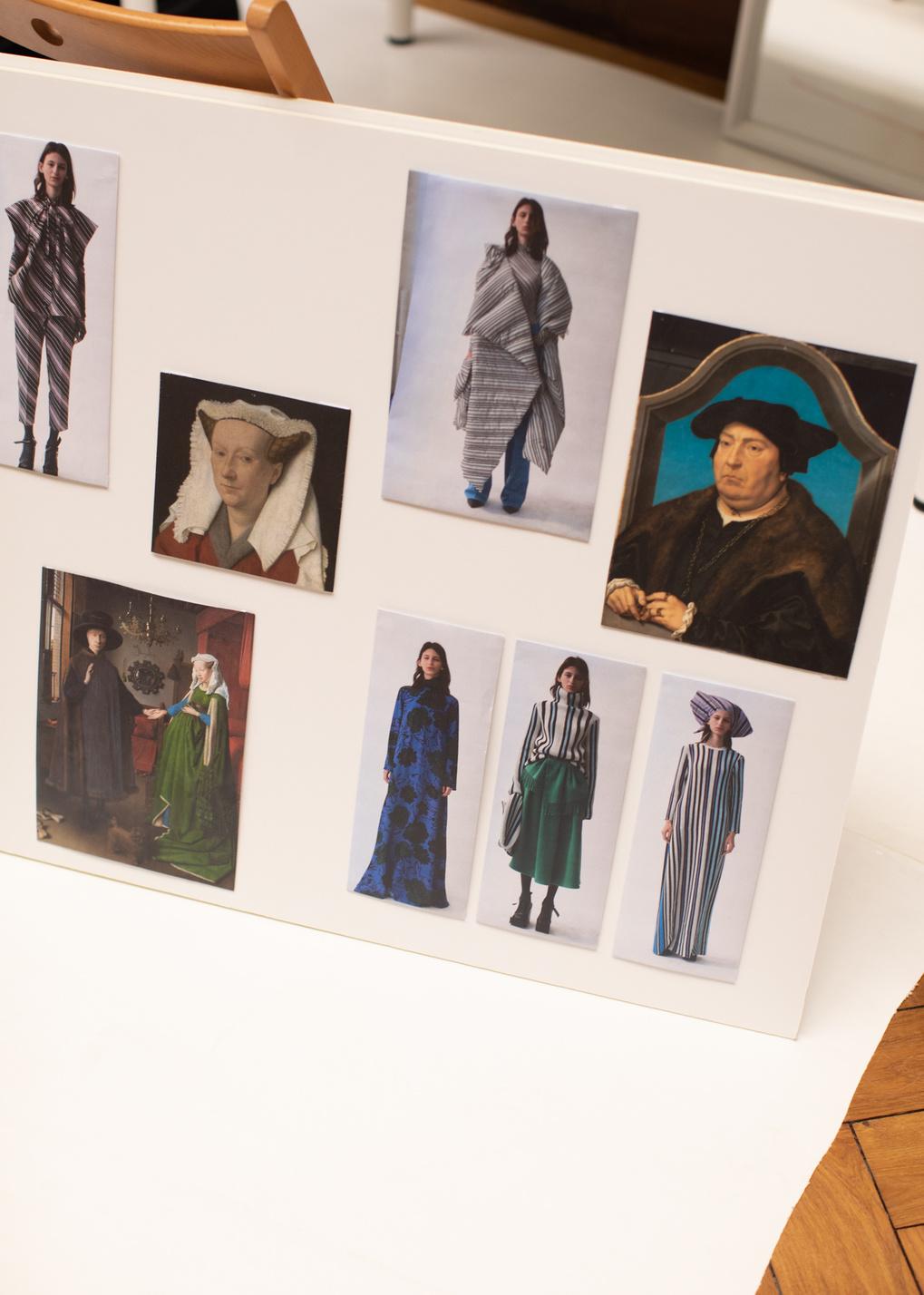 Inspiratie mood board voor de AW21 collectie, Klaartje Lambrechts