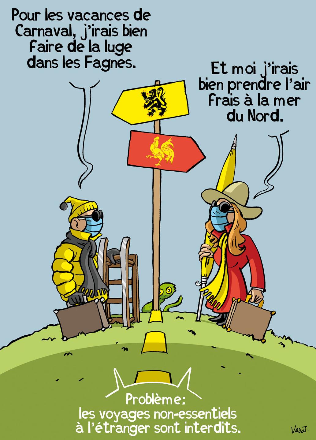 Les Belges devront rester dans leur pays jusqu'au 1er mars au moins., Vadot