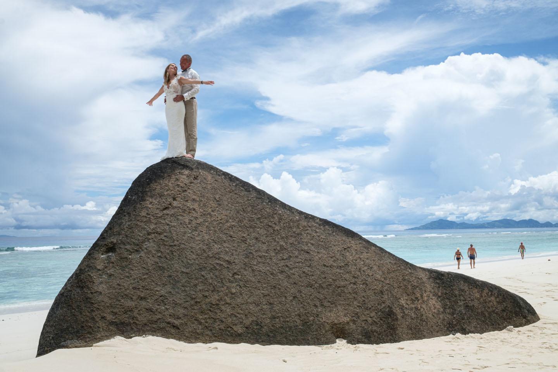 Les Seychelles, une destination prisée par les jeunes mariés., AFP