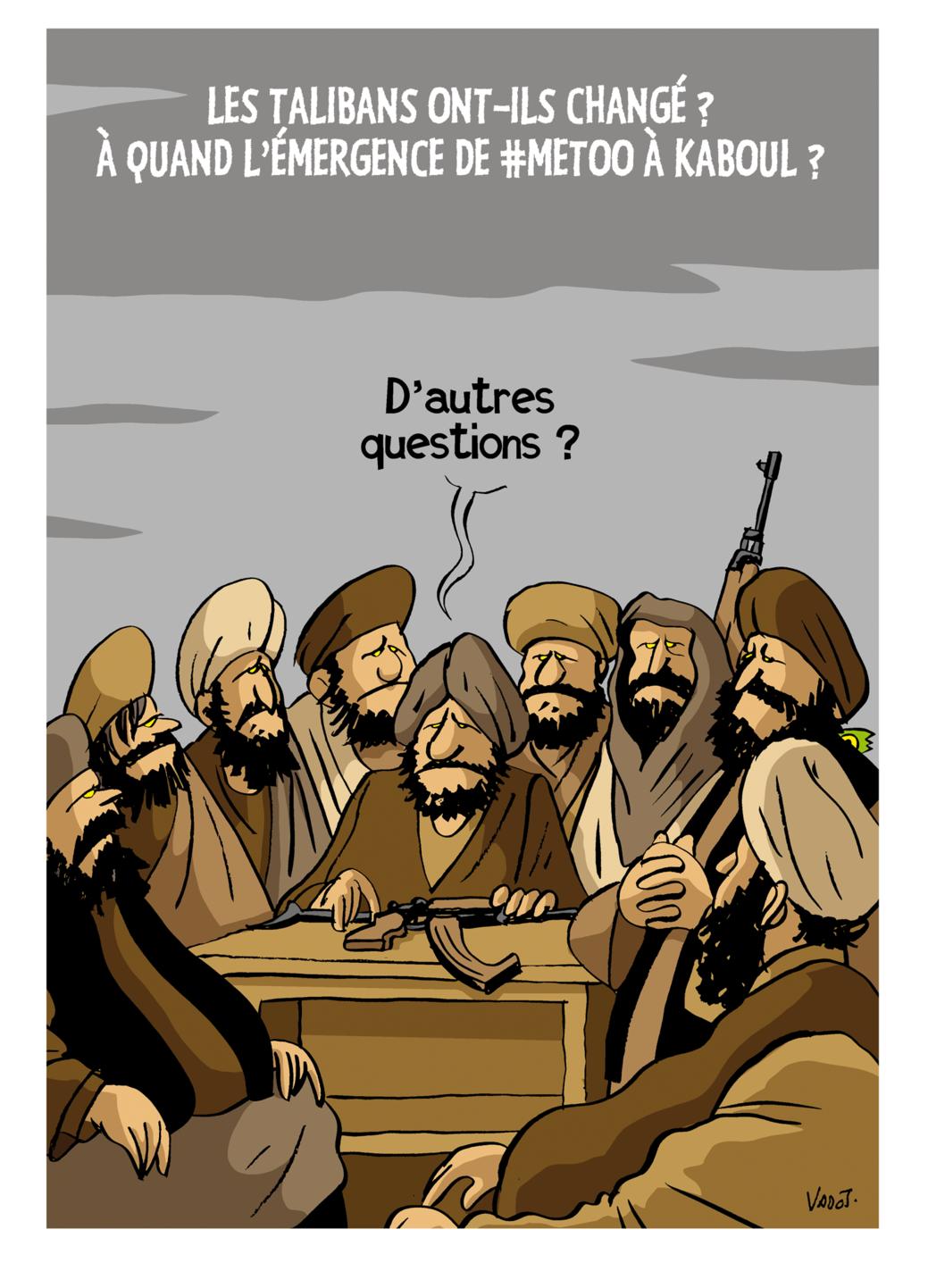 Les talibans imposent leur loi en Afghanistan., Vadot