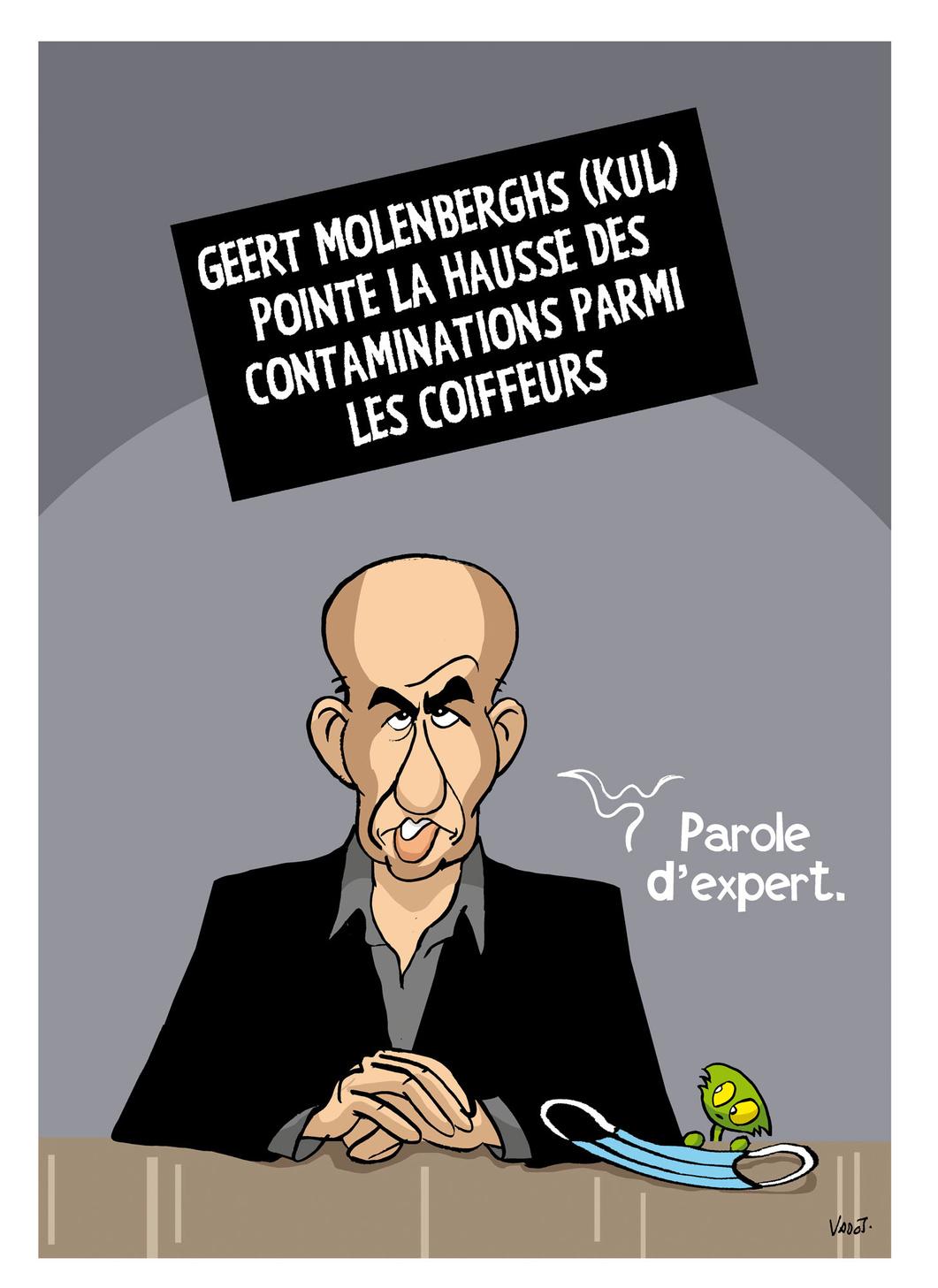 Les salons de coiffures s'indignent des propos du biostatisticien Geert Molenberghs, qui les pointait du doigt., Vadot