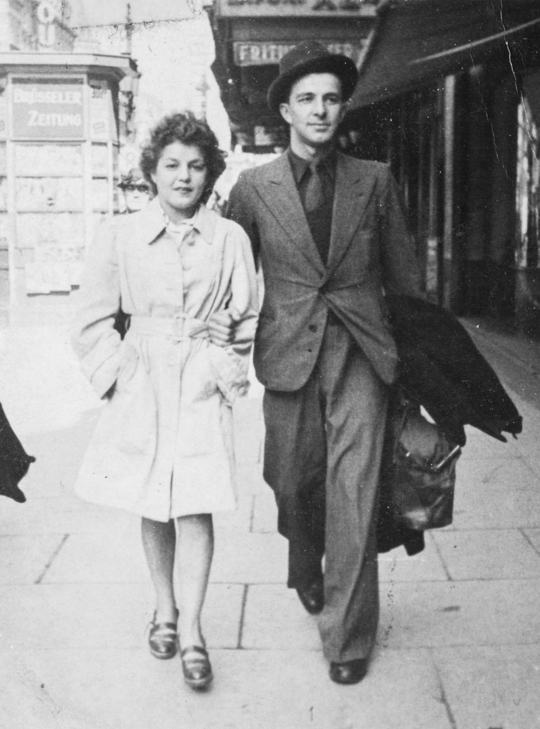 Léopold Bertholet et son épouse, Léo