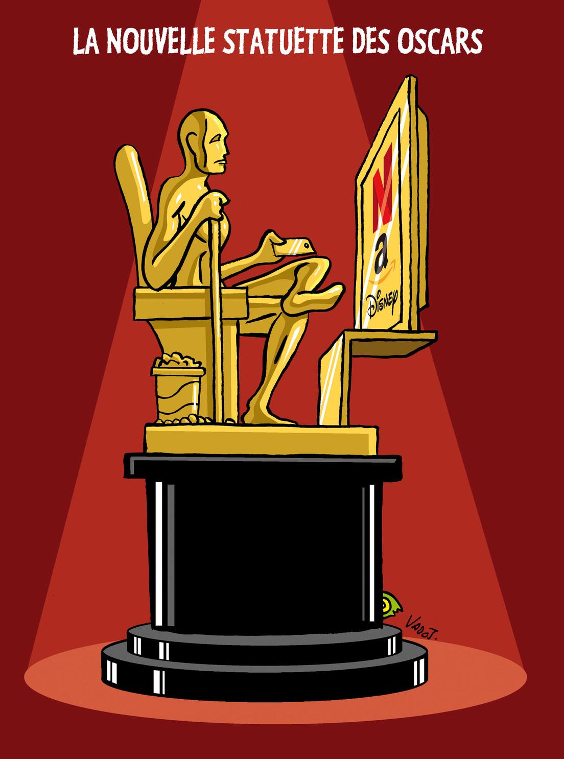 Les films produits par des plateformes de streaming raflent la majorité des nominations aux oscars, alors que les salles de cinéma ont fermé pendant un an aux États-Unis., Vadot