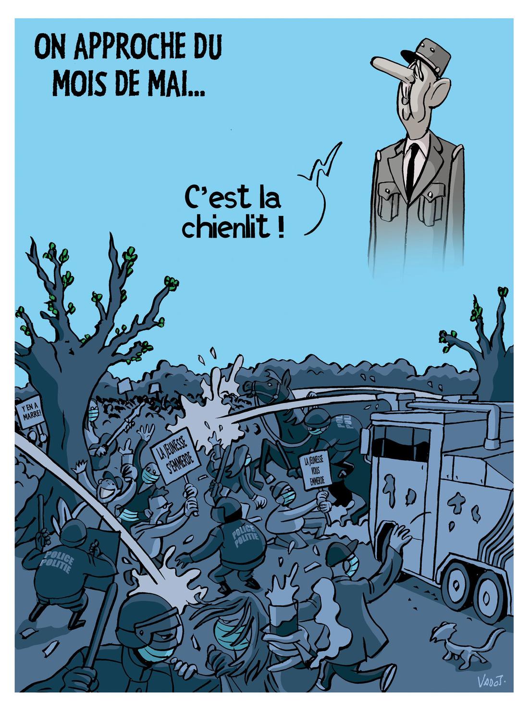 """La """"boum"""" du Bois de la Cambre réprimée par la police illustre le malaise grandissant de la jeunesse après un an de restrictions., Vadot"""