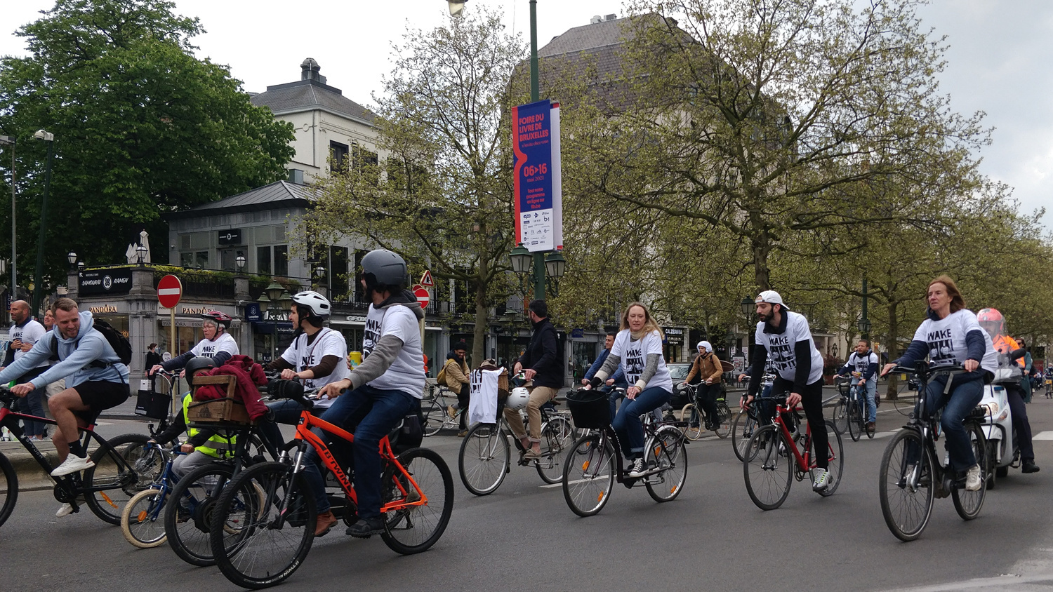 Cycle for freedom, le 1er mai 2021 à Bruxelles, Belga Images