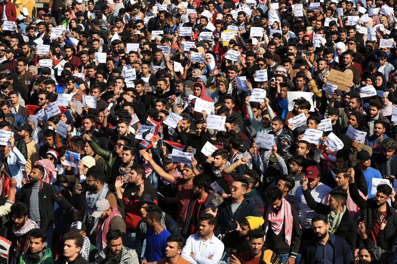 Manifestations à Bagdad, 2020, Getty Images