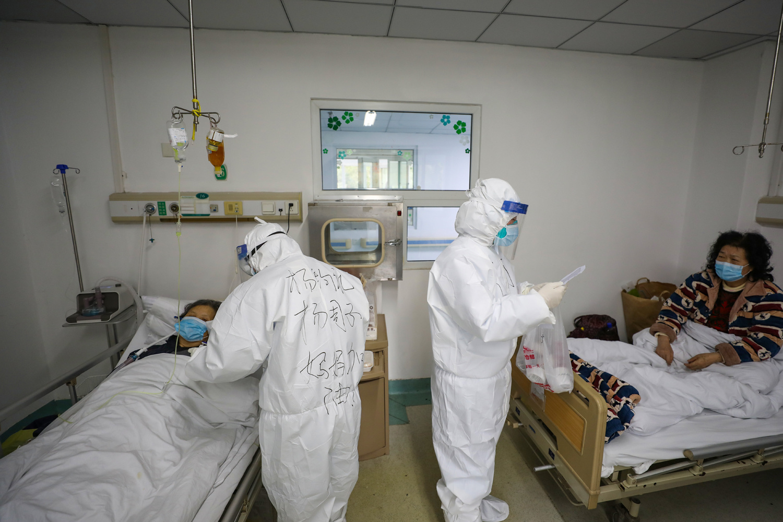 Dans un hôpital de Wuhan, Getty Images