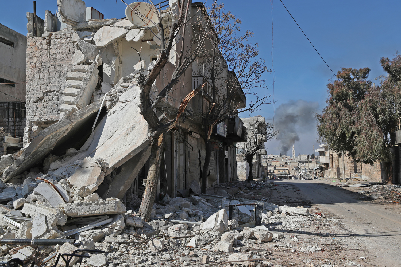 Saraqeb, à l'Est de la province d'Idlib, Syrie., Omar HAJ KADOUR / AFP