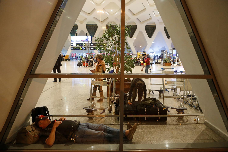 Aéroport de Marrakech, le 15 mars 2020, Reuters