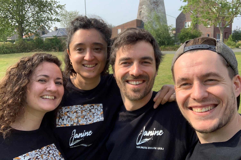 Morane, Carole, Bertand et Maxime., DR