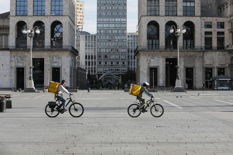 Cycliste à Milan, Getty Images