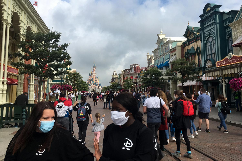 Disneyland Paris, à sa réouverture, le 15 juillet 2020, Belga Images
