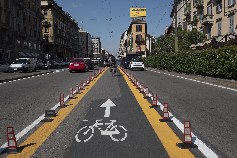 Le centre ville de Milan s'adapte à l'engouement et la nécessite du vélo, Getty Images
