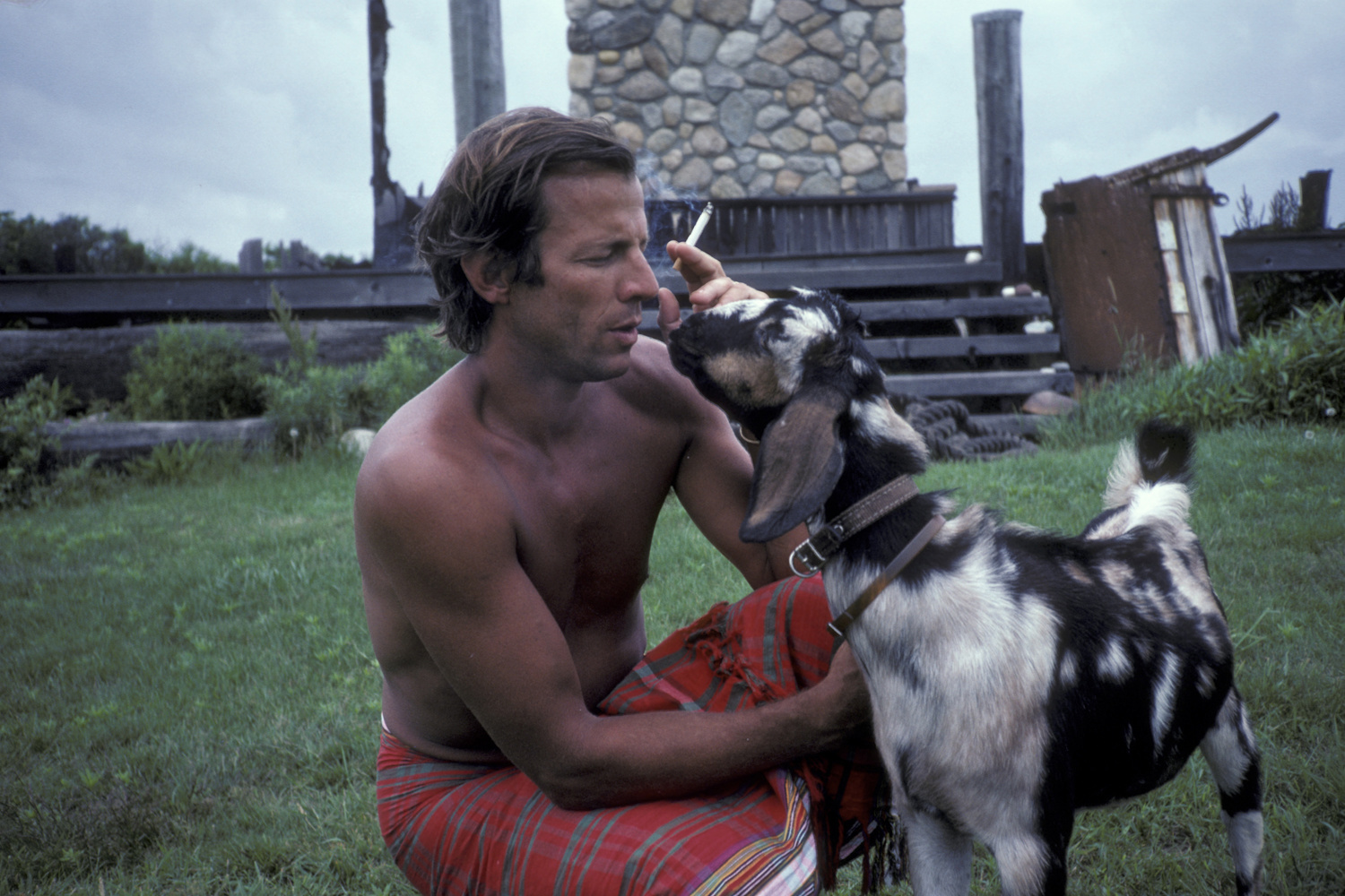 Peter Beard photographié en juillet 1981, dans sa propriété de Montauk, New York., Getty Images