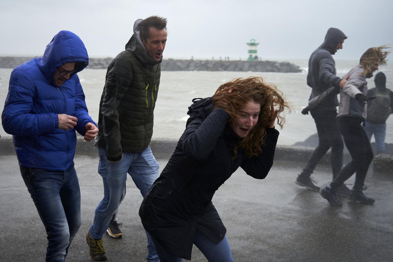 Ciara souffle à Scheveningen, aux Pays-Bas, Getty Images