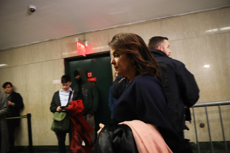 Annabella Sciorra dans les coulirs du tribunal..., Getty Images