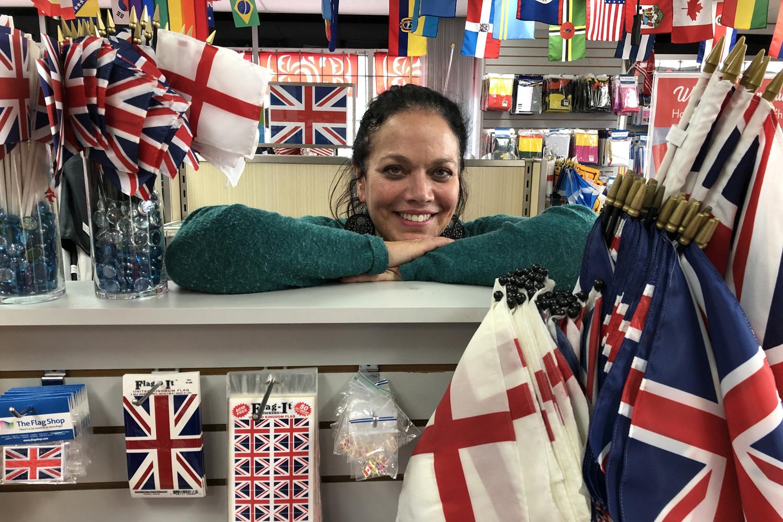 Susan Braverman dans son magasin de souvenirs, AFP