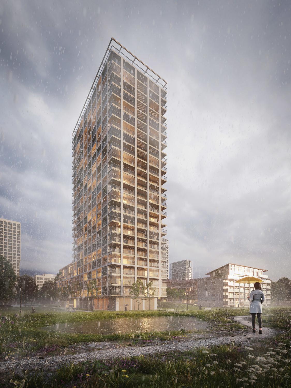 De BAN-toren en het aanpalend lager gebouw, Triple Living