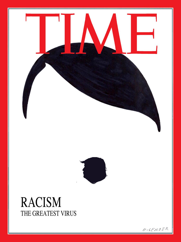 O-Sekoer won de hoofdprijs met onder meer een cartoon over racisme in de VS., O-Sekoer