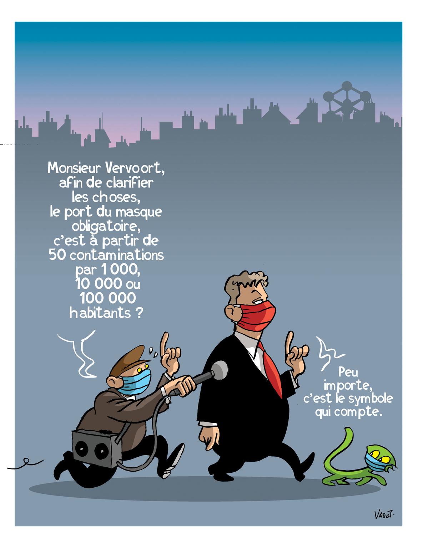 Le ministre-président bruxellois Rudi Vervoort rend le masque obligatoire dans toute la Région., Vadot
