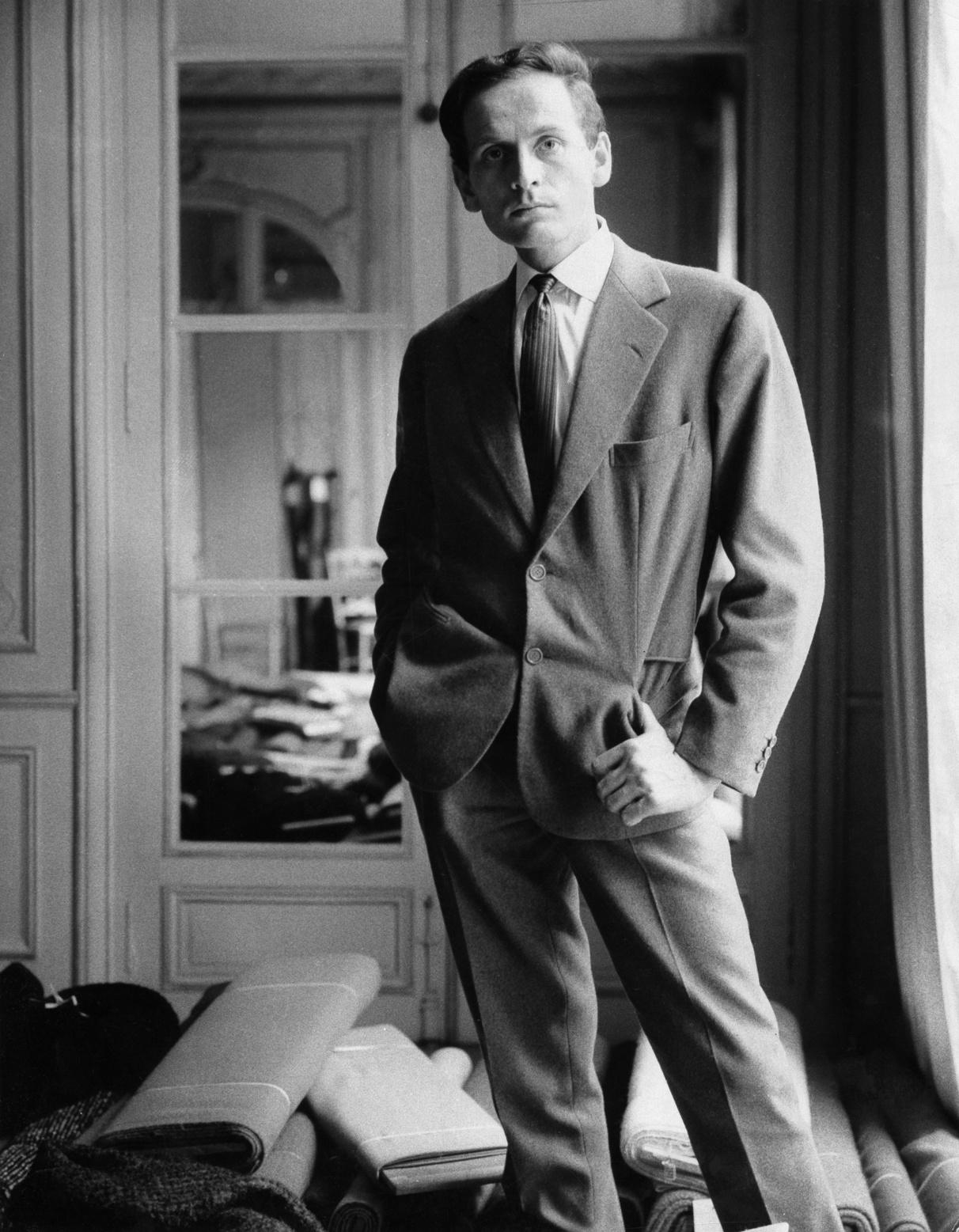 Pierre Cardin en 1958. , Getty