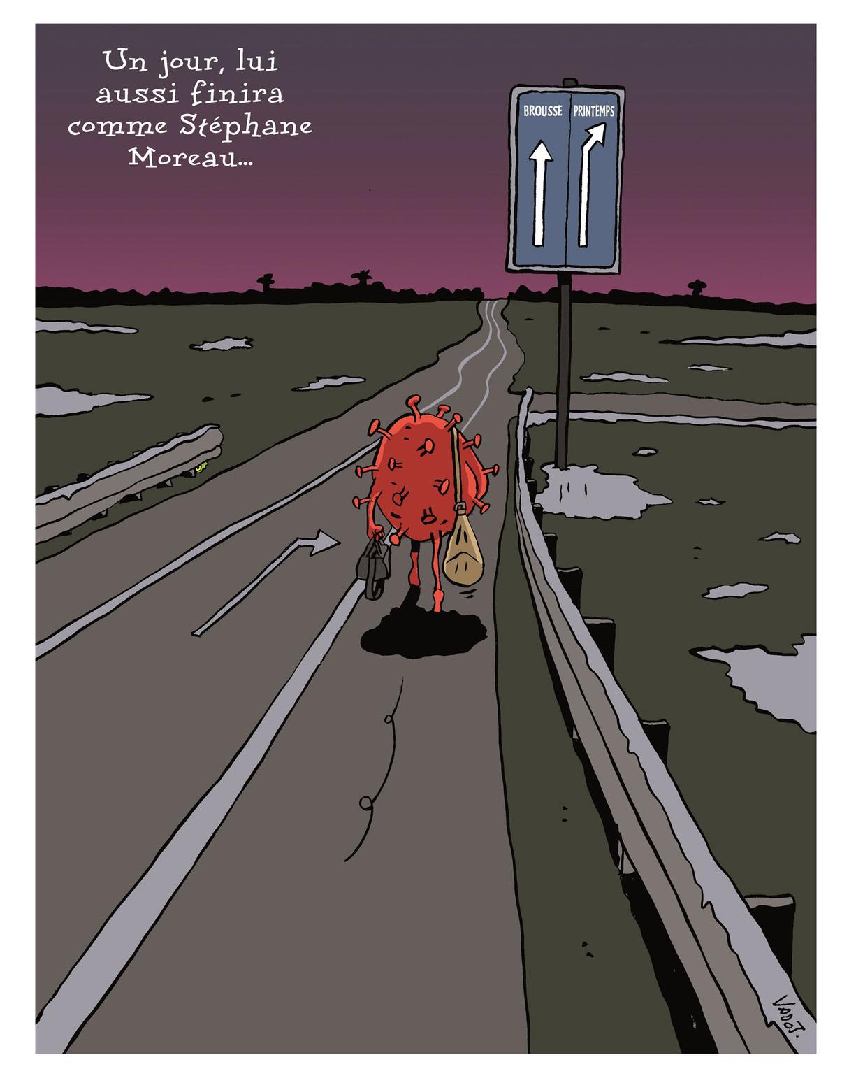 18 février 2021. Stéphane Moreau quitte la prison de Marche-en-Famenne en soirée, de nuit, seul et à pied, alors que l'arrivée des beaux jours est attendue pour mieux combattre le coronavirus., Vadot