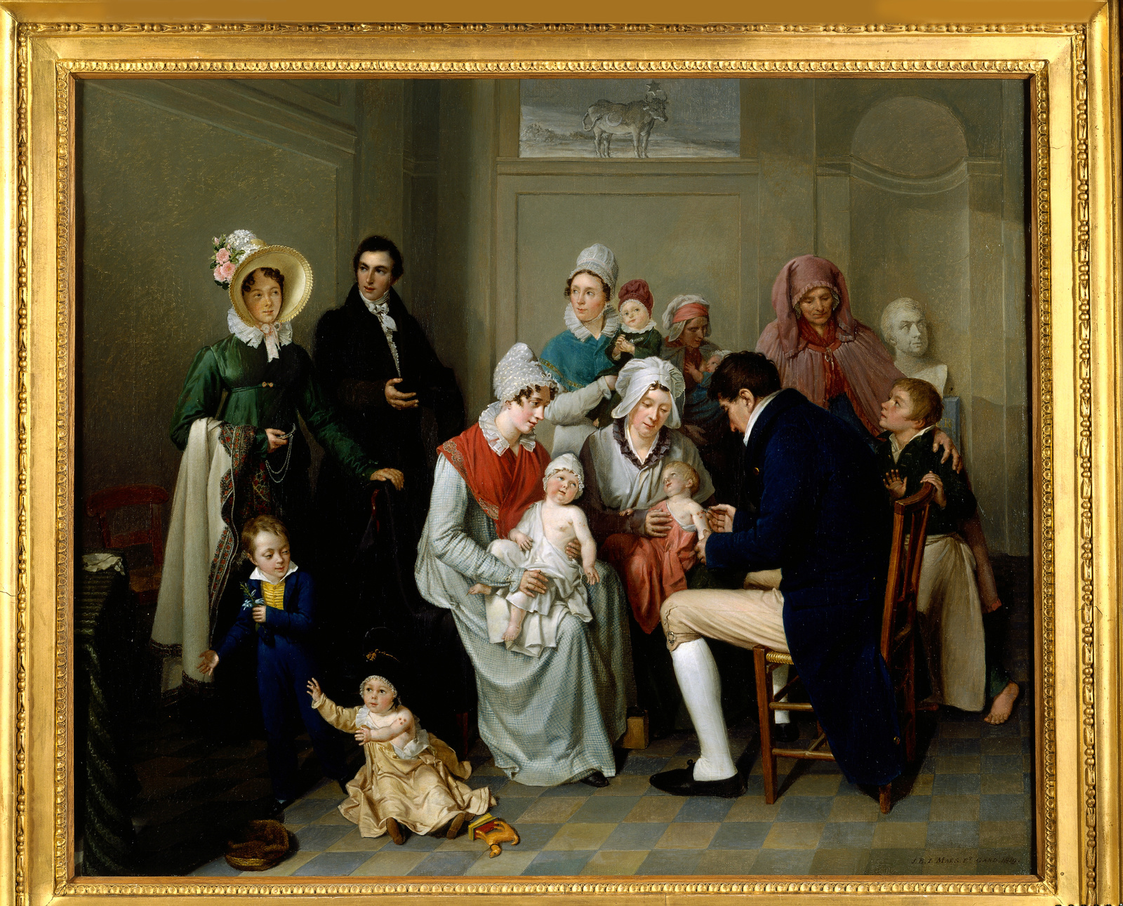De Koepokinenting, olieverfschilderij, Jean Baptist Maes-Canini, 19de eeuw., Collectie STAM - Stadsmuseum Gent