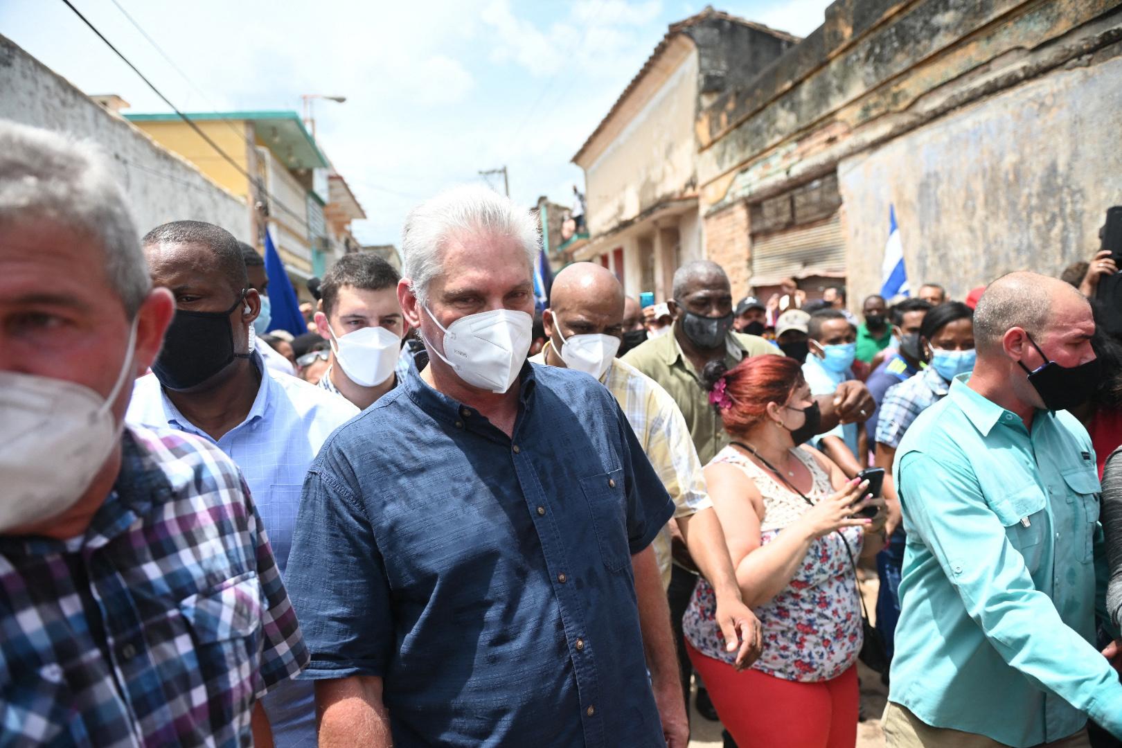 Le président cubain Miguel Diaz-Canel, BELGA IMAGE