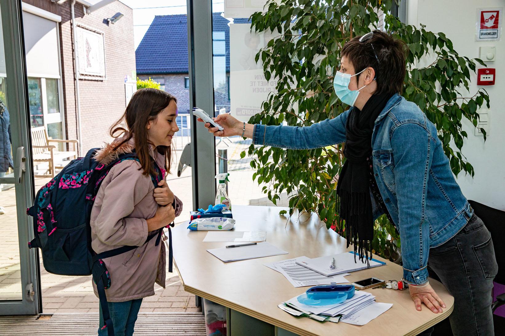 école primaire Olfa Elsdonk à Edegem, Anvers, le vendredi 15 mai 2020, Belga Images