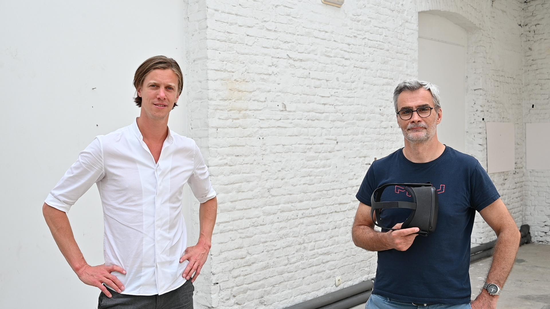 Le COO de PresenZ, Matthieu Labeau (à gauche) à côté du CEO, Tristan Salomé., PresenZ