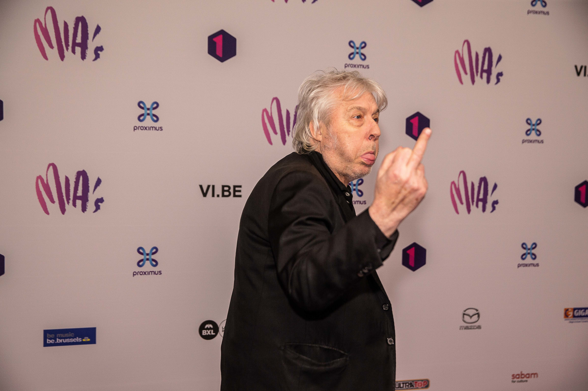 Arno, fidèle à lui-même lors des 13e MIA's, où il a reçu un Lifetime Achievement Award., BELGA PHOTO JAMES ARTHUR GEKIERE