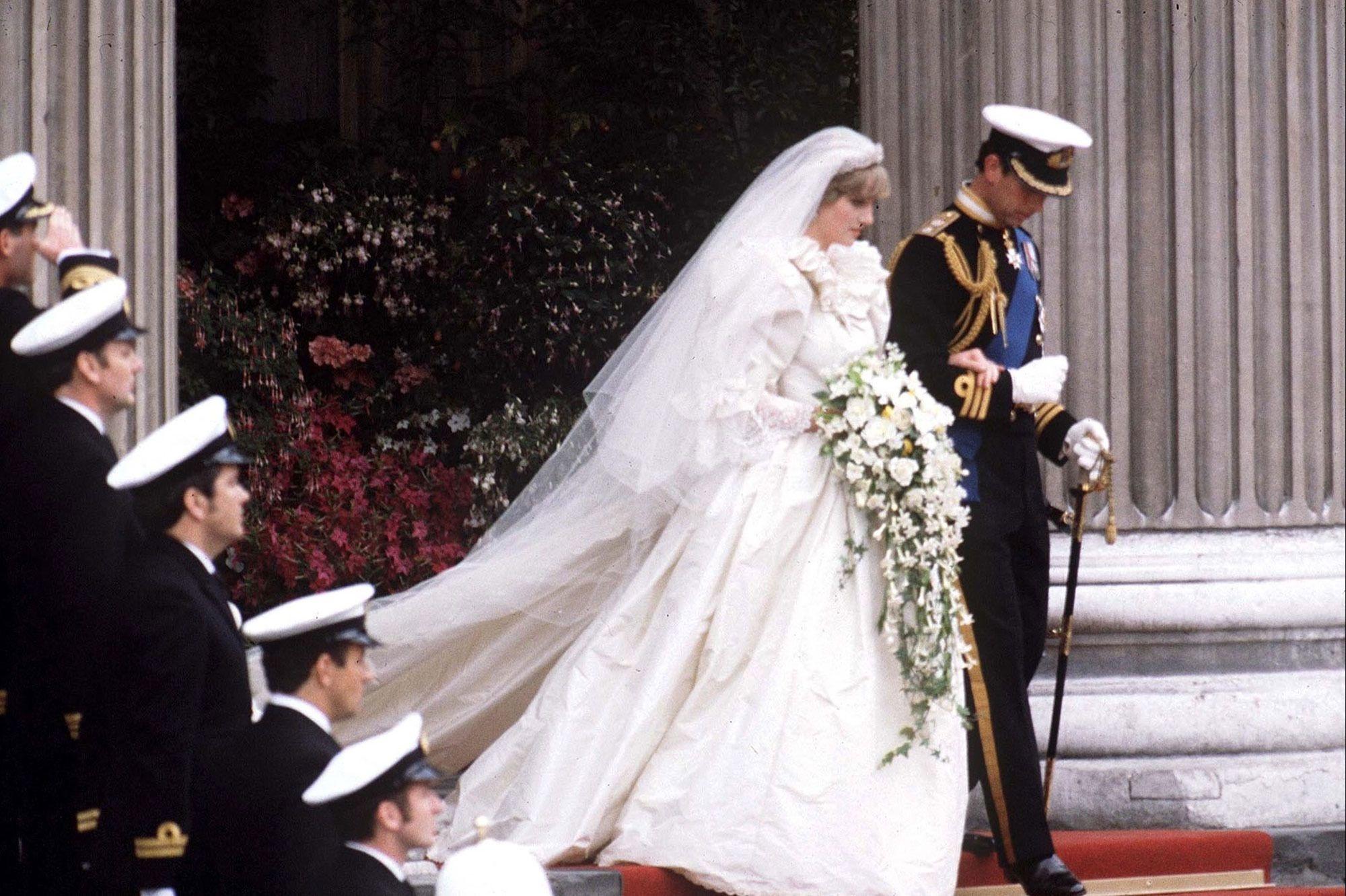 Lady Diana et le prince Charles lors de leur mariage en 1981., Isopix