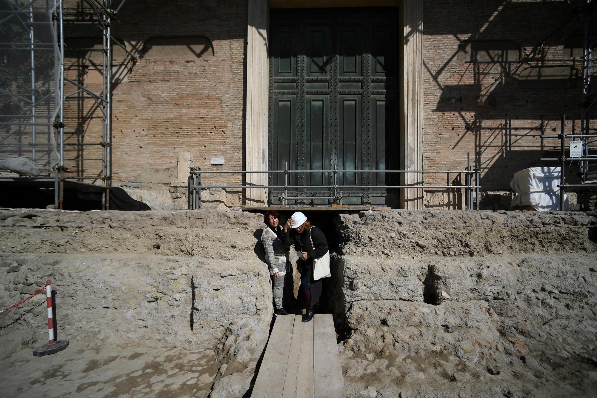Tombeau de Romulus, roi fondateur de Rome., AFP