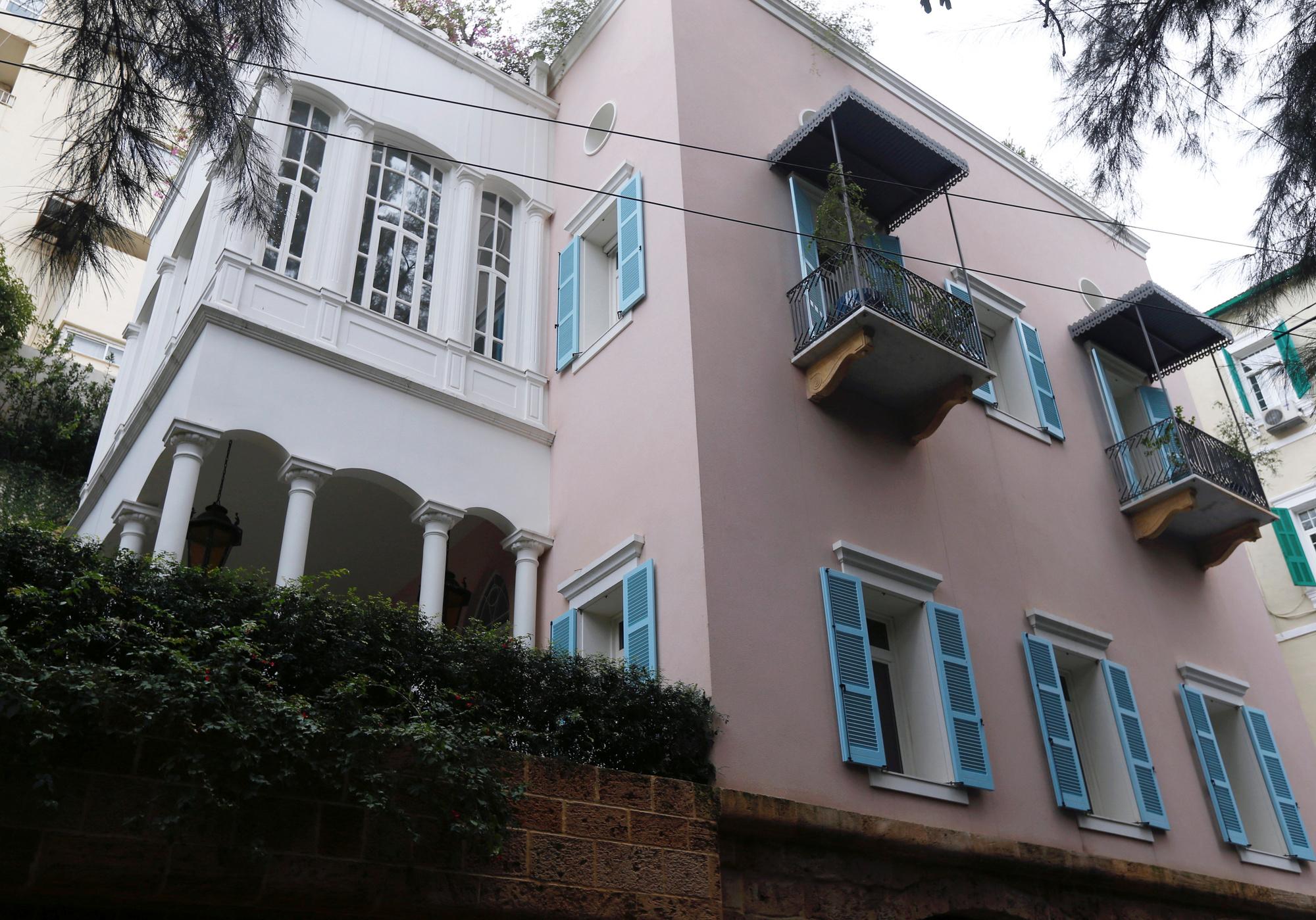 La maison supposée de Ghosn à Beyrouth, au Liban., reuters