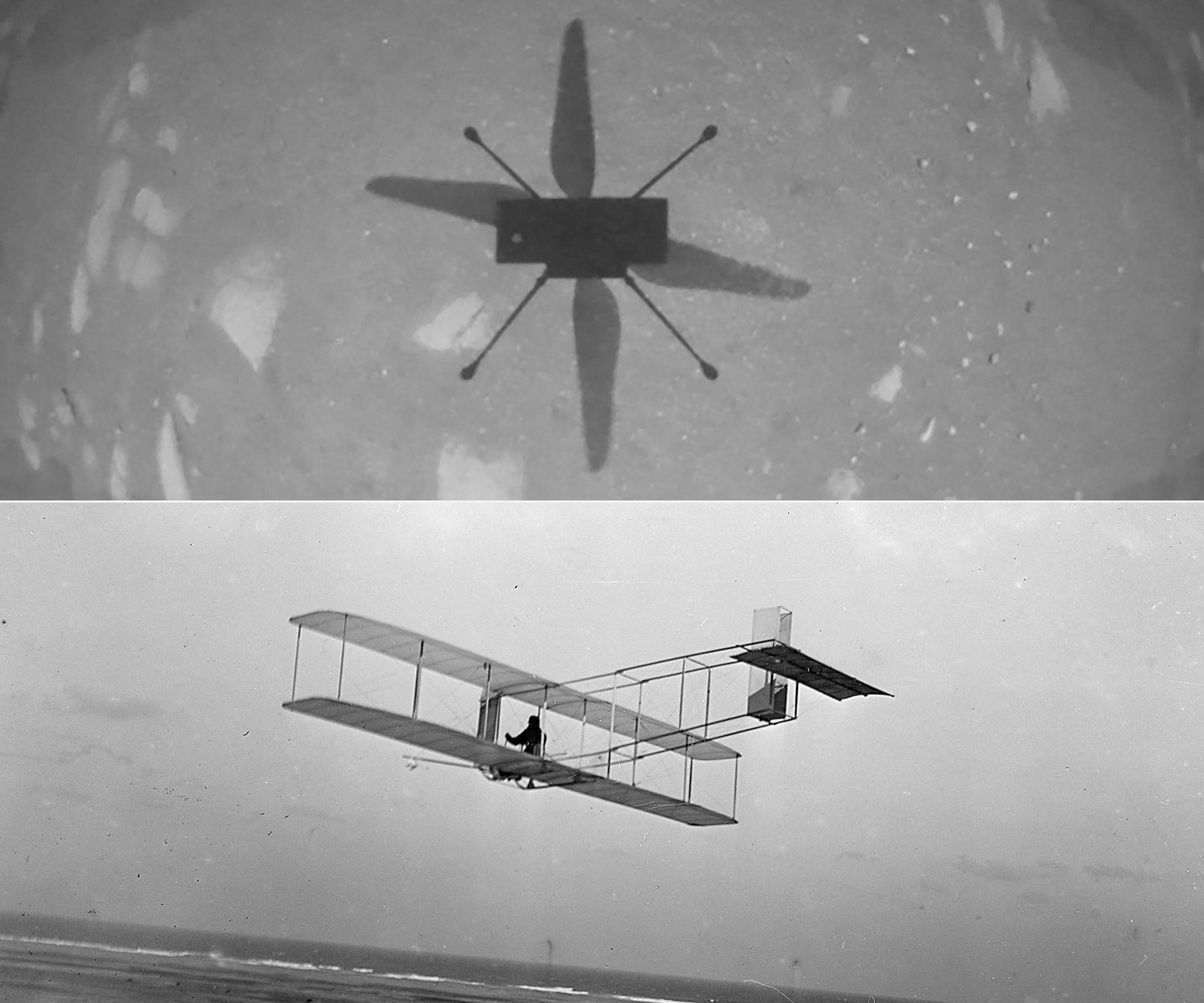 L'opération est l'équivalent sur Mars du premier vol d'un engin motorisé sur Terre, en 1903, par les frères Wright., BELGA
