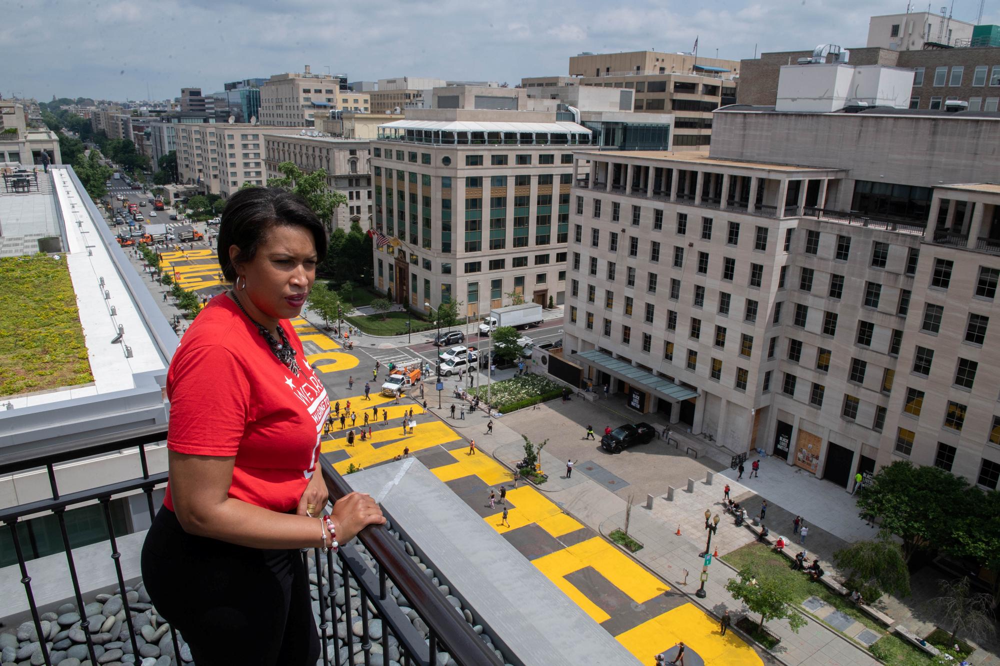 Muriel Bowser, maire de Washington D.C., Khalid Naji-Allah Executive Office of the Mayor/Handout via REUTERS