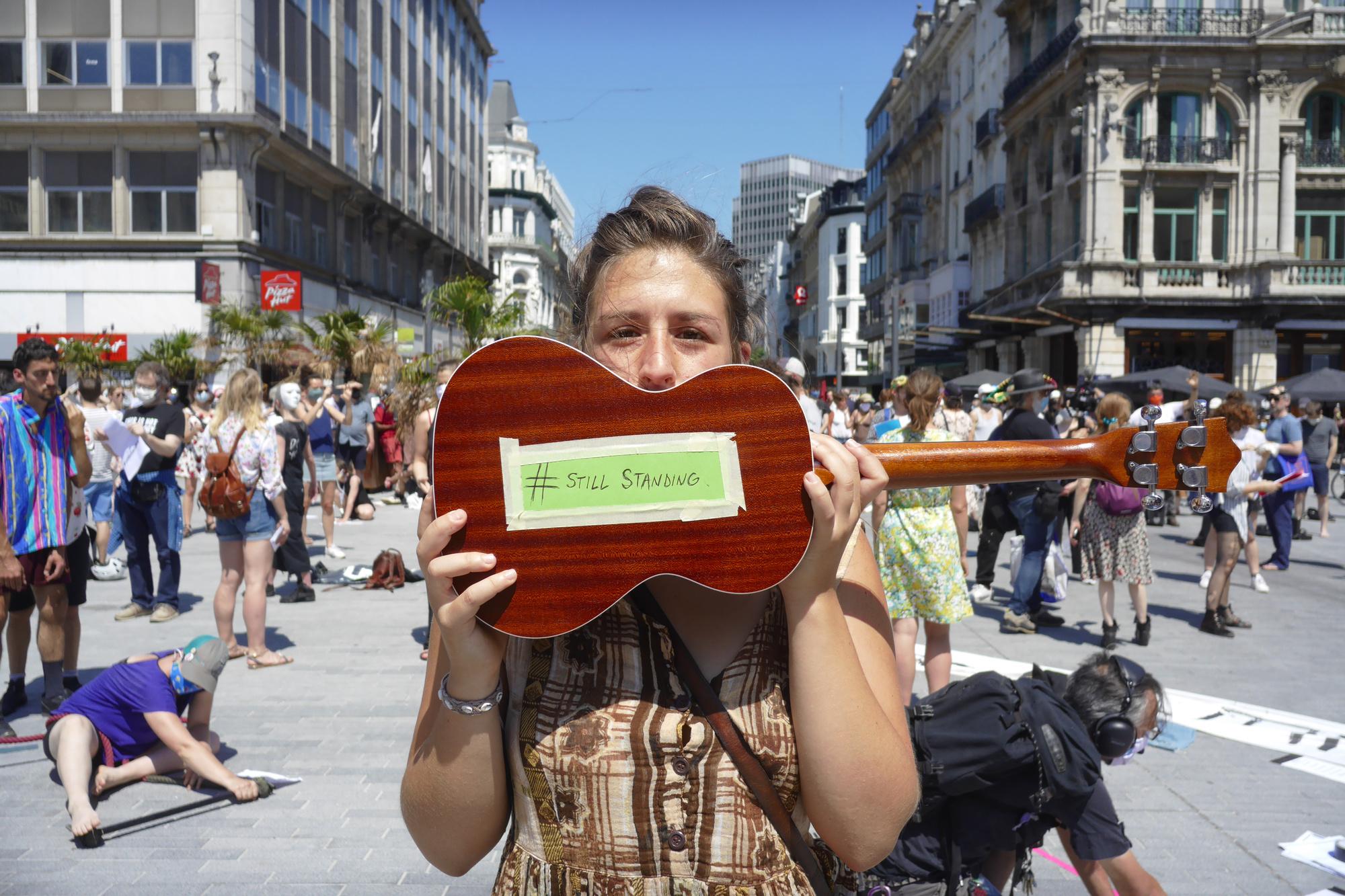 Première édition de Still Standing en juin dernier, ici à la Bourse, Bruxelles., BELGA PHOTO OPHELIE
